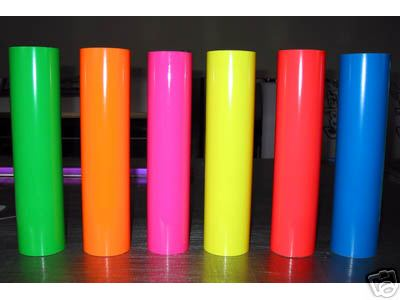 Avery SF 100 2.0 mil Cast Vinyl Film Fluorescent Series Special Colors