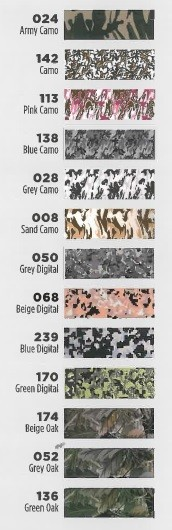 9202 Series 2.5 mil Lumina Heat Transfer Film Camouflage