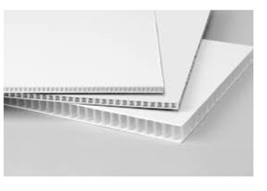 4 mm Corrugated Plastic Sign Blanks White Opaque